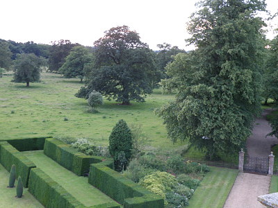 Gunby front park from Hall roof